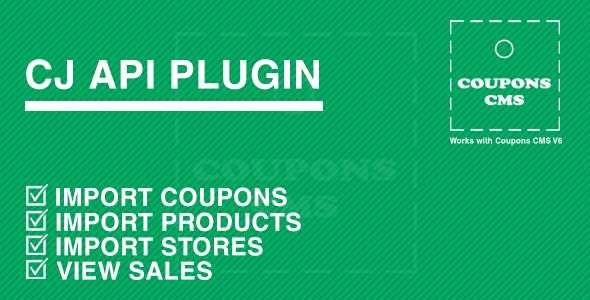 CJ Plugin for Coupons CMS - CodeCanyon Item for Sale