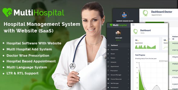 Multi Hospital - Best Hospital Management System (SaaS App)