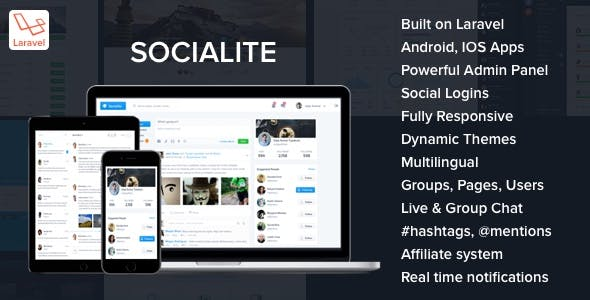 Socialite - Laravel Social Network Script - CodeCanyon Item for Sale