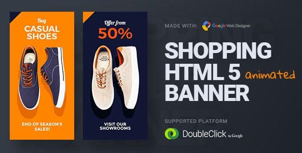 Online Shopping | HTML5 Google Banner Ad 23