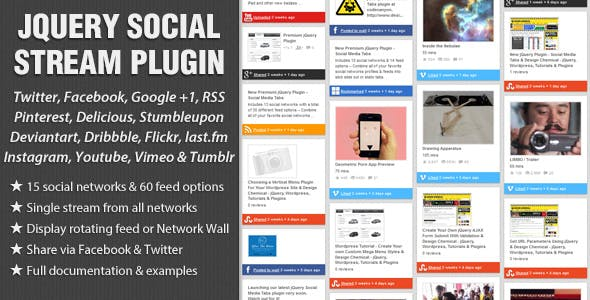 jQuery Social Stream        Nulled