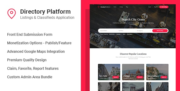Directory Platform - Listings & Classifieds - CodeCanyon Item for Sale