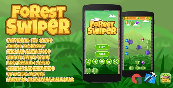 Forest Swiper IOS XCODE Source Admob + Multiple Characters - CodeCanyon Item for Sale