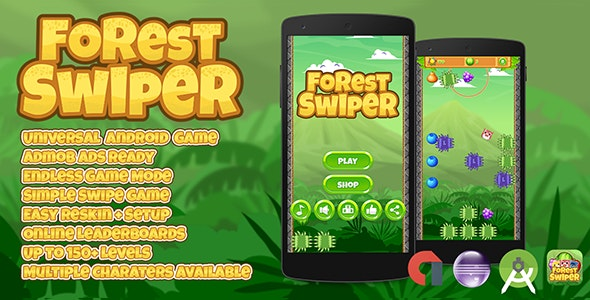 Forest Swiper + Admob + Multiple Characters (Android Studio + Eclipse) - CodeCanyon Item for Sale