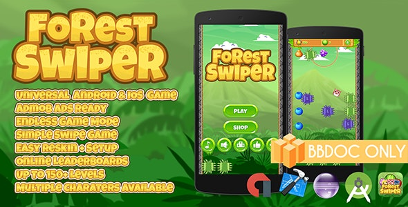 Forest Swiper Buildbox (BBDOC + Android Studio + Eclipse + Xcode) - CodeCanyon Item for Sale