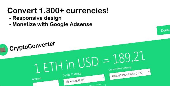 CryptoConverter - Convert 1.300+ crypto currencies