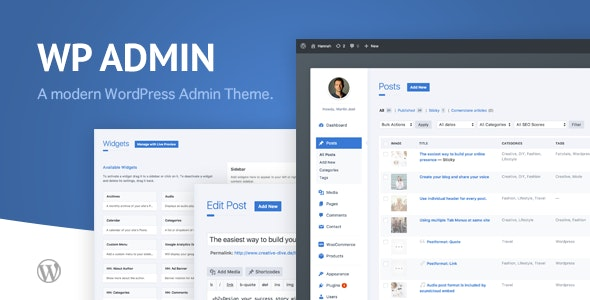 wphave Admin - A clean and modern WordPress Admin Theme - CodeCanyon Item for Sale