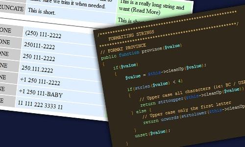 Basic PHP Data Formatting - CodeCanyon Item for Sale