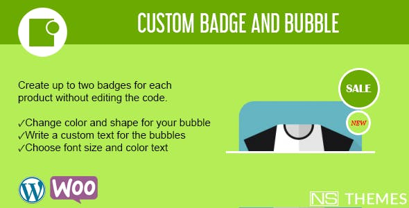 Custom badge and bubble for WooCommerce