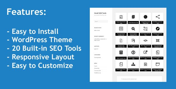 Small SEO Tools - WordPress Theme with 20 built-in SEO Tools