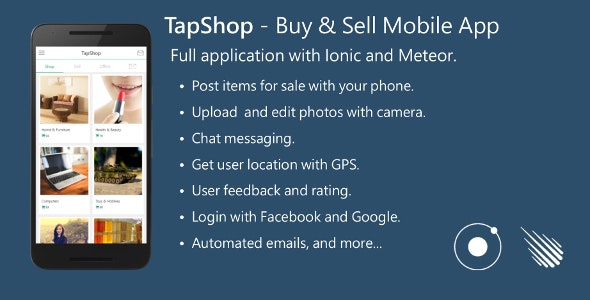 Buy & Sell Mobile App - Full Application with Meteor and