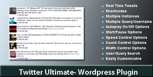 Twitter Ultimate-Wordpress Plugin - CodeCanyon Item for Sale