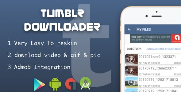 Tumblr Downloader video & photo & gif with native ads