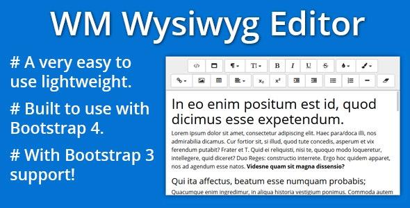 Bootstrap 4 WYSIWYG Editor by zahedkamal87 | CodeCanyon
