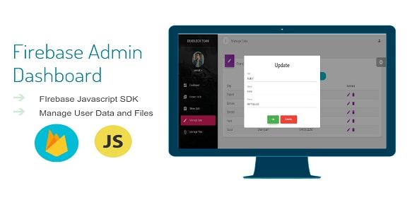 Firebase Admin Dashboard By Deadlock (Javascript Version) - CodeCanyon Item for Sale