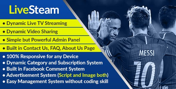 Live Video Streaming Plugins, Code & Scripts from CodeCanyon