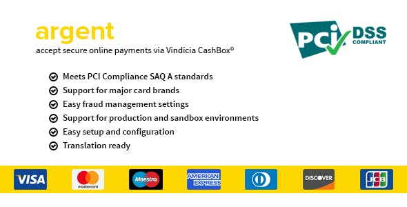 Argent - Secure Vindicia CashBox payment gateway for WooCommerce