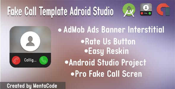 Fake Call Template Adroid Studio