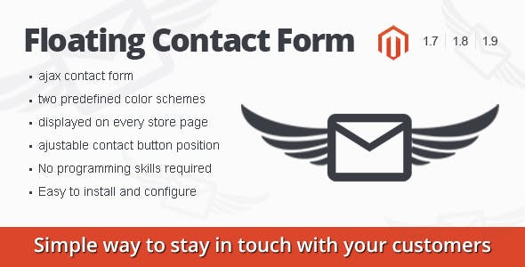Floating Contact Form magento extension