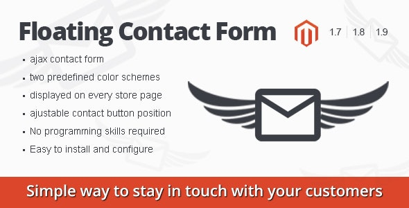 Floating Contact Form magento extension - CodeCanyon Item for Sale