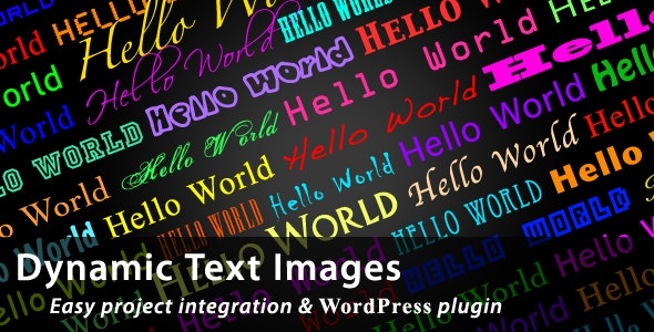 Dynamic Text Images - CodeCanyon Item for Sale
