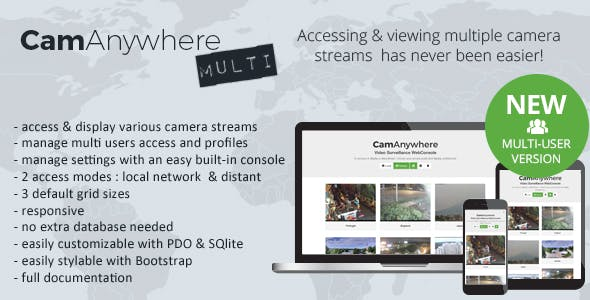 CamAnywhere Multi-user Video Camera Surveillance WebConsole