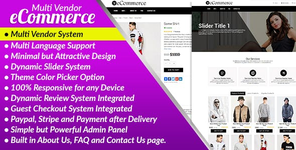 E-Commerce PRO - Multi Vendor Ecommerce Business Management System