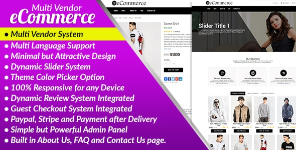 E-Commerce PRO - Multi Vendor Ecommerce Business Management System - CodeCanyon Item for Sale