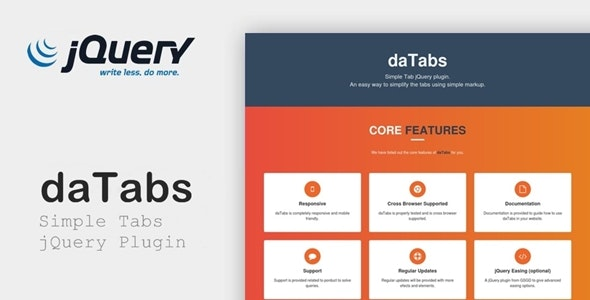 daTabs - Simple Tabs jQuery Plugin - CodeCanyon Item for Sale