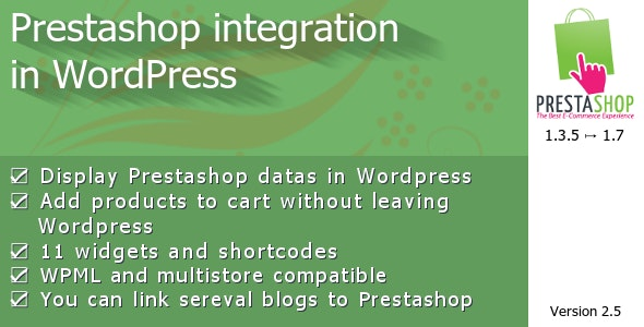 Prestashop integration in WordPress - CodeCanyon Item for Sale