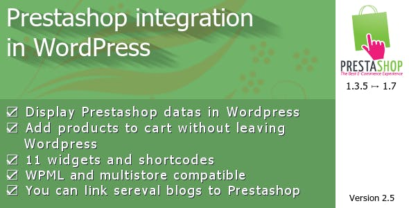 Prestashop integration in WordPress