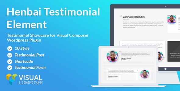Visual Composer Add-on - Henbai Testimonial Element - CodeCanyon Item for Sale