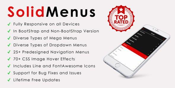 SolidMenus | BootStrap (v3) & Non-BootStrap Responsive Mega Menus