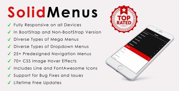 SolidMenus | BootStrap (v3) & Non-BootStrap Responsive Mega Menus - CodeCanyon Item for Sale