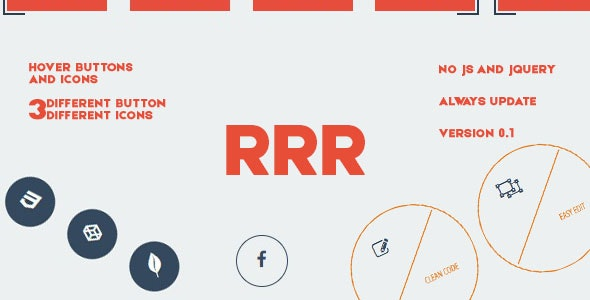 HoveRRR - Hover Effects and Buttons by DevSanSon | CodeCanyon