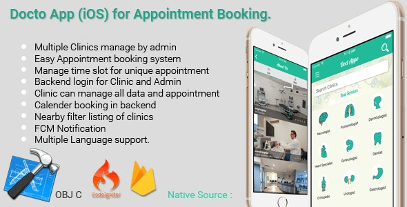 IOS Multiple Clinic App - Appointment Booking for Doctor by