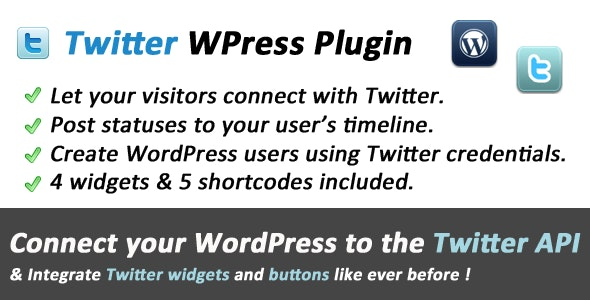 Twitter Connect and Widgets for WordPress - CodeCanyon Item for Sale