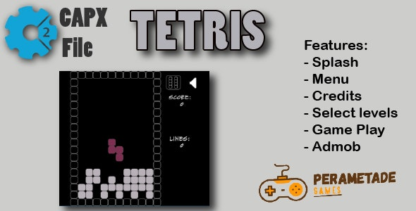 Tetris - HTML5 Game - Construct 2 CAPX - CodeCanyon Item for Sale