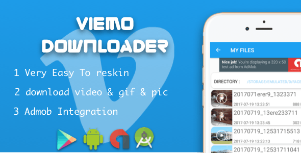 Vimeo Downloader video With Admob Native