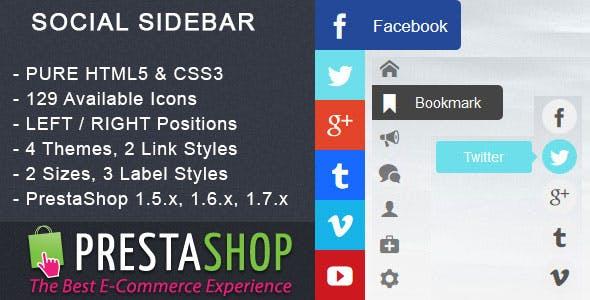 Social Sidebar - PrestaShop Module