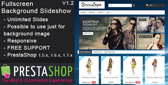 Prestashop Fullscreen Background Slideshow