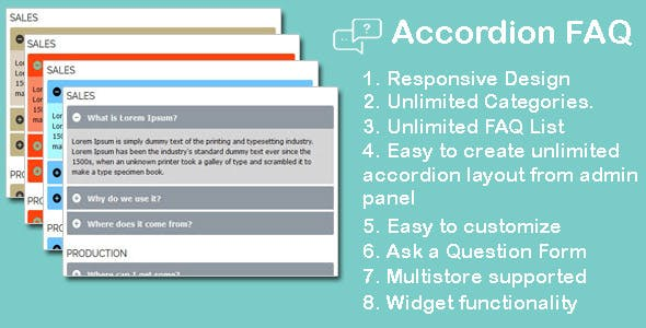 Accordion FAQ extension for magento