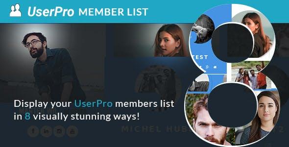 Memberlist layouts for UserPro