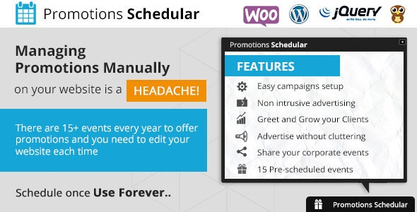 Promotions Scheduler - WordPress Plugin - CodeCanyon Item for Sale