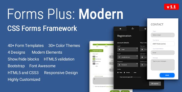 Forms Plus: Modern - CSS Form Framework