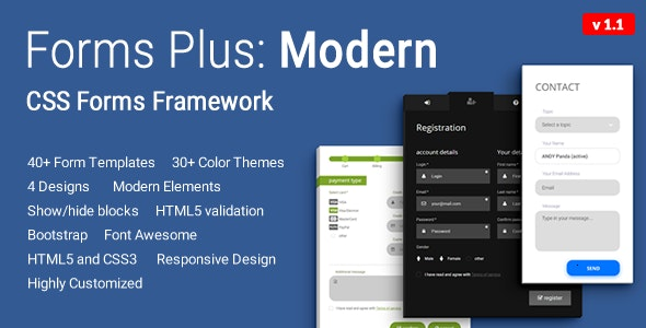 Forms Plus: Modern - CSS Form Framework - CodeCanyon Item for Sale
