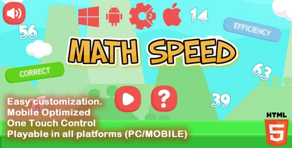 Math Speed - HTML5 Game (Capx)