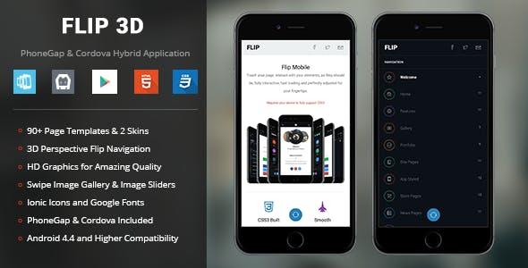 Flip 3D | PhoneGap & Cordova Mobile App