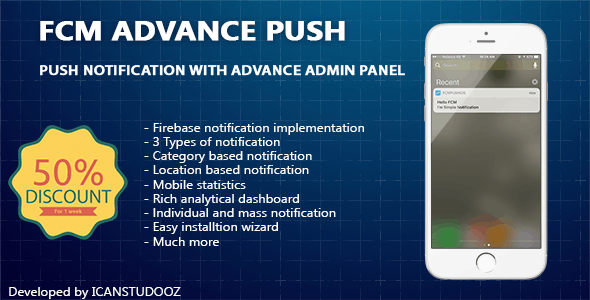 Firebase Push Notification iOS / FCM + Advance Admin Panel