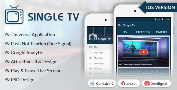 iOS Single TV - CodeCanyon Item for Sale